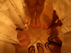 After Our Pedicures